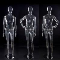 Полноростовый женский манекен прозрачный