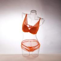 Бельевой женский торс прозрачный «В движении» 02 - DTFB-001