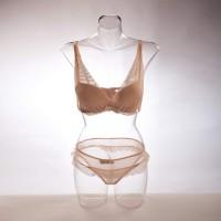 Бельевой женский торс прозрачный «Прямой» 01 - DTFB-003
