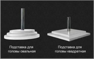 """Голова женская ЖГВ-01 серии """"Визитер"""""""