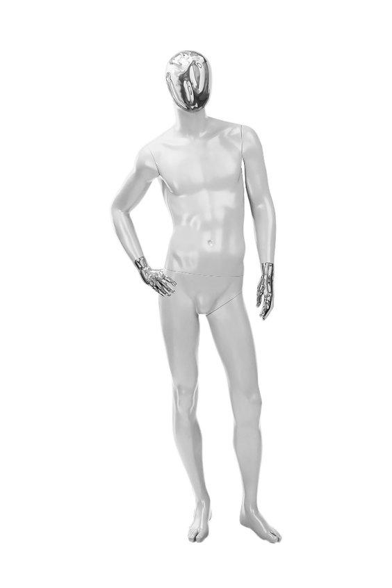 """Мужские манекены серии """"Блестящие"""" (частично) хром"""