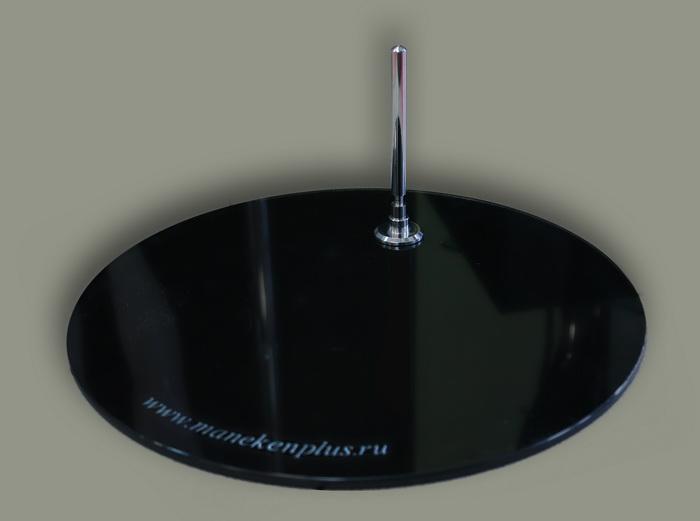 Подставка (круглое стекло) с креплением в пятку или в голень