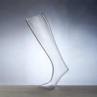 В наличии! Форма ноги женская для носков удлиненная на подставке прозрачная - DTFL-002