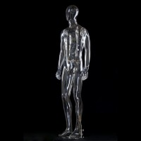 Полноростовый мужской манекен прозрачный