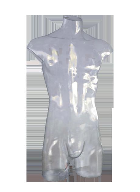 В наличии! Бельевой мужской торс прозрачный «Прямой» 01 - DTMB-001