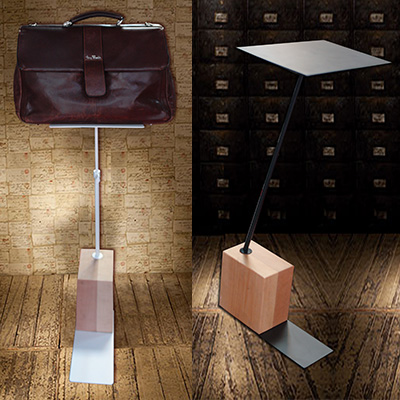 Универсальный экспозитор для сумок стойка на кубе BG-14