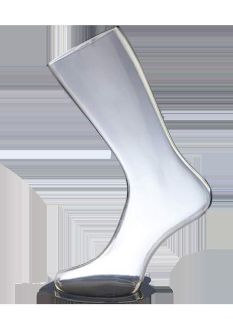В наличии! Форма ноги женская для носков на подставке прозрачная - DTFL-003