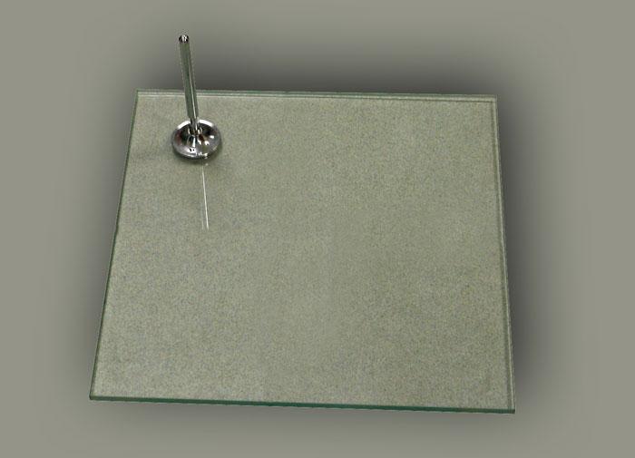 Подставка (квадратное стекло) с креплением в пятку или в голень.