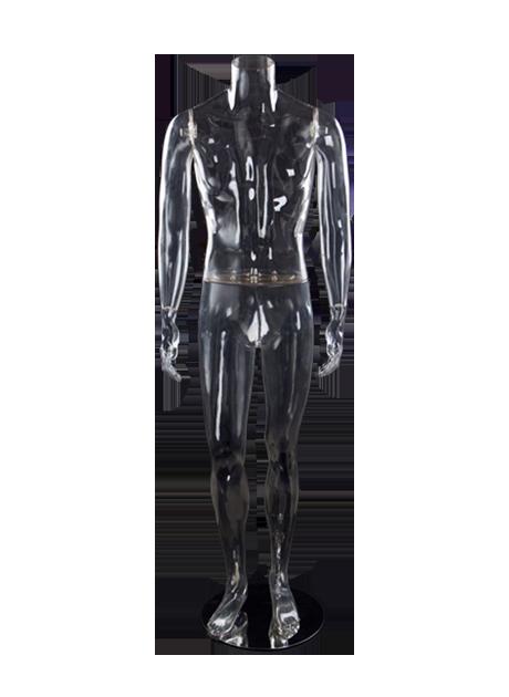 Мужской манекен без головы прозрачный
