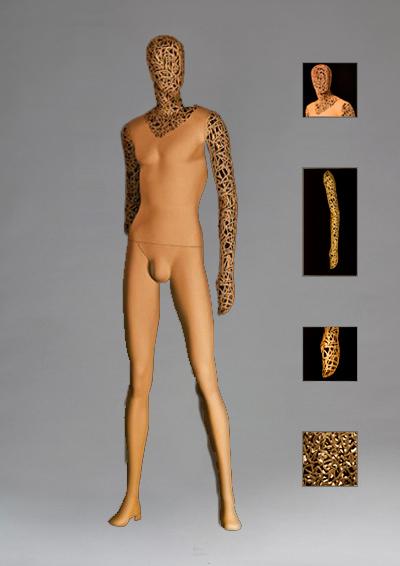 Мужской сетчатый манекен серии