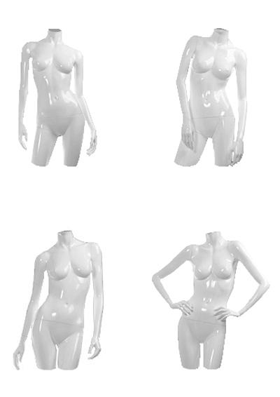 Торсы женские серии Глянец