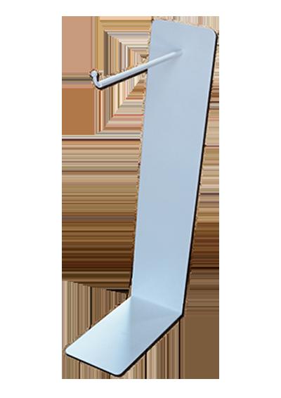 Универсальный экспозитор с крючком белый (H 50, L 20) H-01